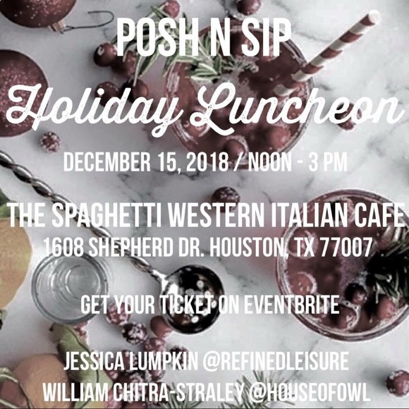 Other - Houston, TX Posh N Sip Holiday Luncheon